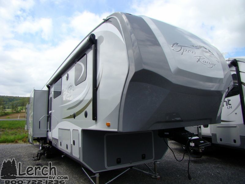 2014 Open Range 427bhs Quad Bunk Fifth Wheel Camper New 4