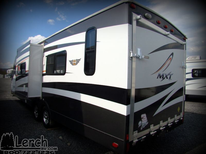 2008 kz mxt 266 toy hauler travel trailer ultra lite rv for Rv trailer with garage