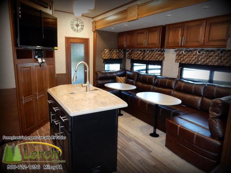 2016 Open Range 3x427bhs 5th Wheel Rv With Bunks Outside