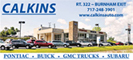 Calkins GMC, Buick and Subaru, Lewistown, Pa